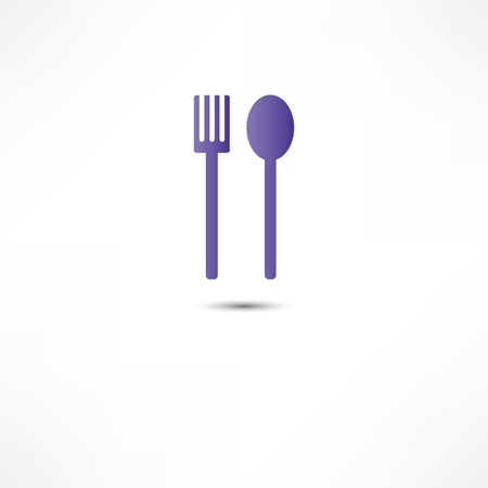 fork and spoon icon Stock Vector - 16366103