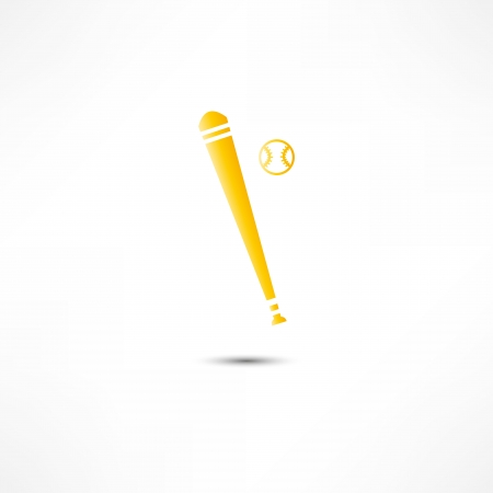 fastpitch: Baseball And Bat Icon