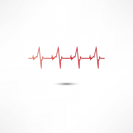 palpitation: Cardiogram Icon