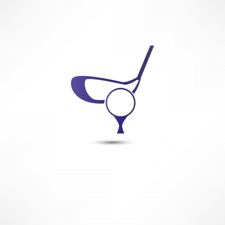 putter: Golf Ball And Putter Icon