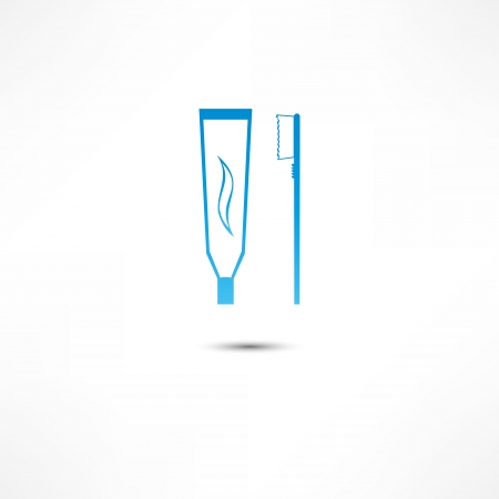 Toothpaste And Toothbrush Icon Stock fotó - 16366195