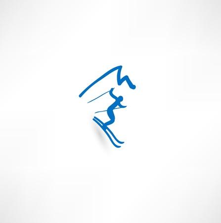ski jump: Skier Icon