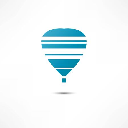 hot: hot air balloon icon