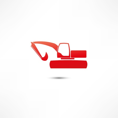 Excavator Icon Stock Vector - 16470585