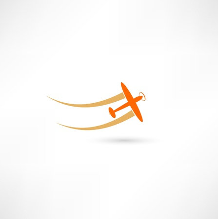 passenger airline: airplane symbols Illustration