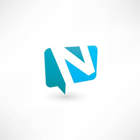 letter n: Abstract bubble icon  based on the letter N Illustration