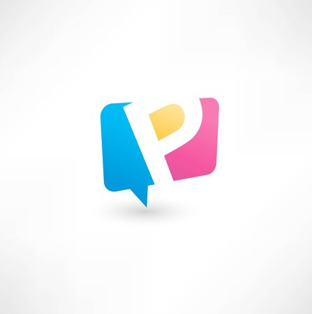 letter p: Abstract bubble icon  based on the letter P