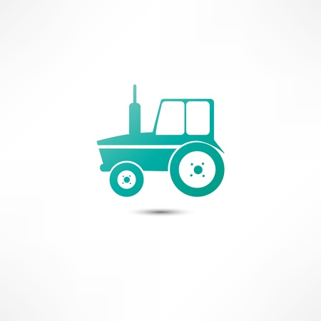 farmed: Tractor icon Illustration