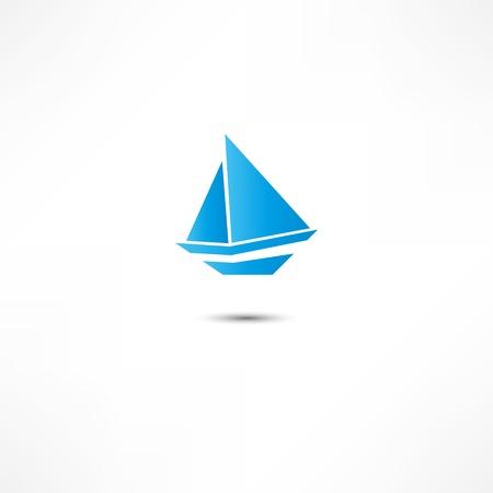 Sailing boat Ilustracja