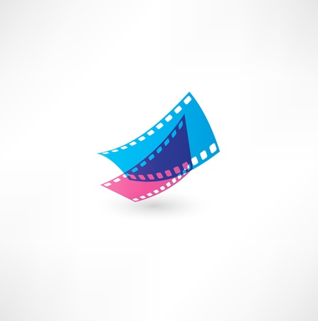 Film icon wave Stock Vector - 16493289