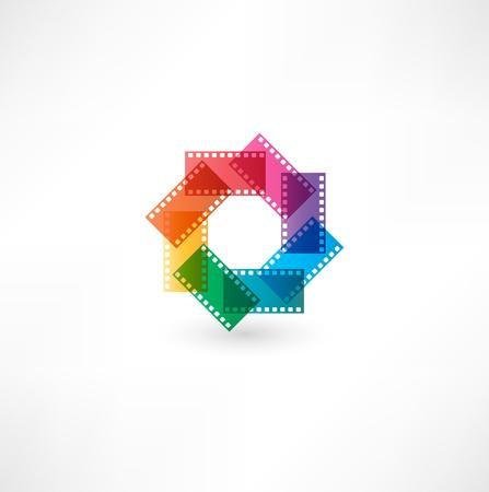 Film icon.  イラスト・ベクター素材
