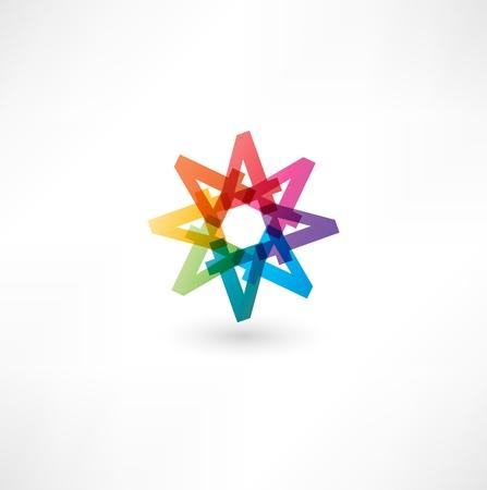 simbolo infinito: Figura a todo color abstracta de los n�meros 4 Vectores