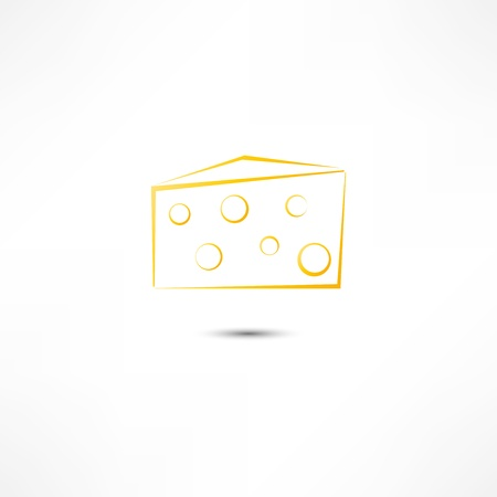 kaaspictogram Stock Illustratie