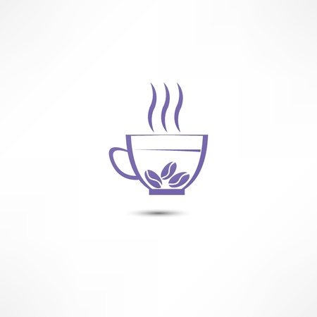 A cup of coffee icon Stock Vector - 16549863
