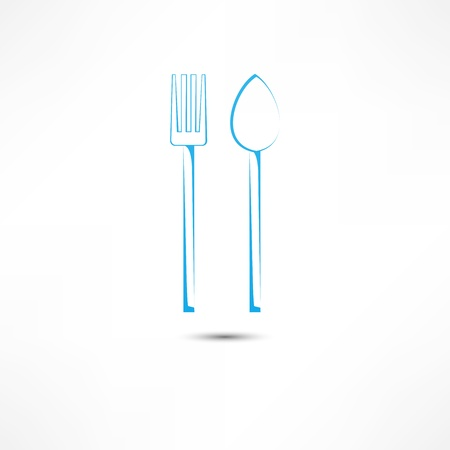 fork and spoon icon Stock Vector - 16549871