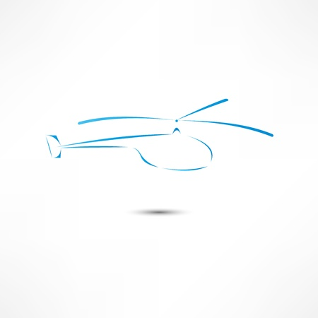 the air attack: Helicopter Icon