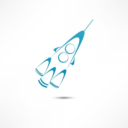 Rocket icon Stock Vector - 16549873