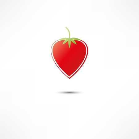 Strawberry Icon Stock Vector - 16549843