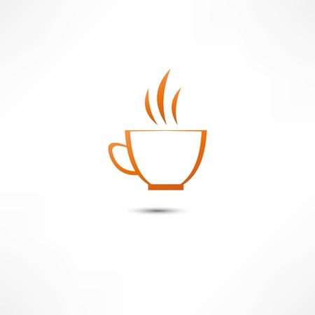 Een kop koffie pictogram Stock Illustratie