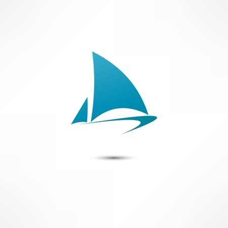recreation yachts: Sailing boat Illustration