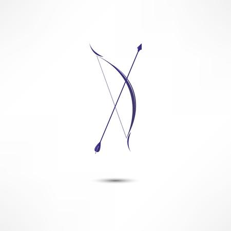 arco y flecha: Arco y flecha del icono Vectores