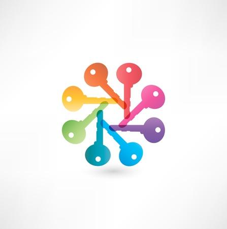latchkey: Key Icon Illustration