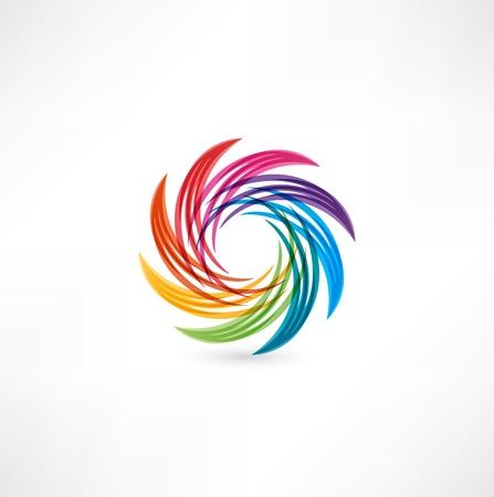 revolve: abstract icon Illustration