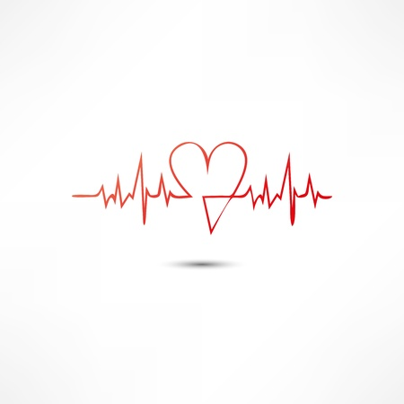 heart disease: Cardiogram Icon Illustration