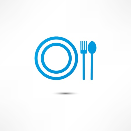 dine: Fork And Spoon And Plate Icon