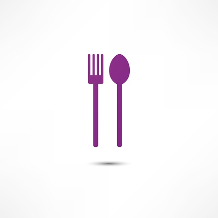 place setting: fork and spoon icon