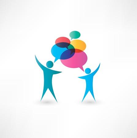 talkative: Dialog speech bubbles.