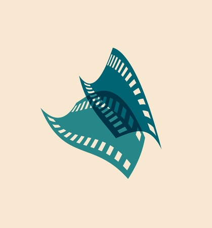 Film icon. Vector