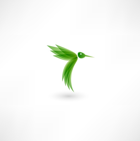 Hummingbird icon Stock Vector - 16795576