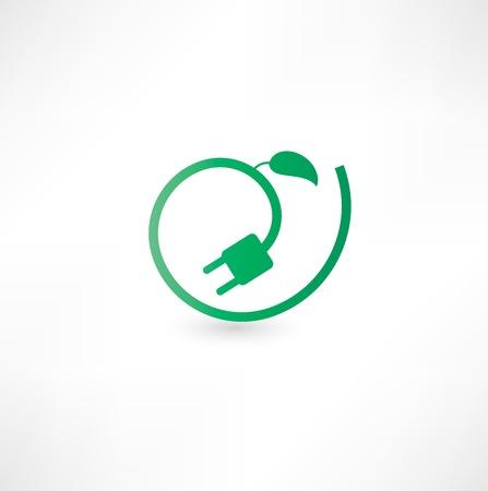 Vert signe concept énergétique Banque d'images - 16795570