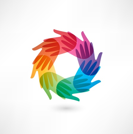 manos juntas: Negocios icono. Transacci�n.