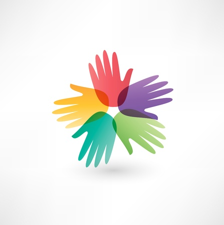 manos juntas: manos que conectan Vectores