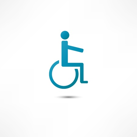disabled parking sign: Disabled icon Illustration