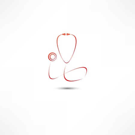 stethoscopes: Stethoscope icon Illustration