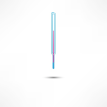 warmed: Medical Thermometer Icon