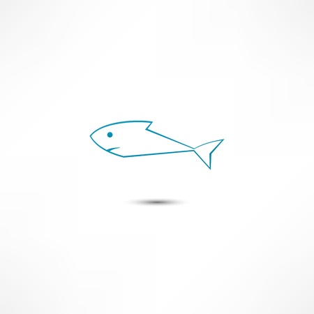 outline drawing of fish: Fish Icon