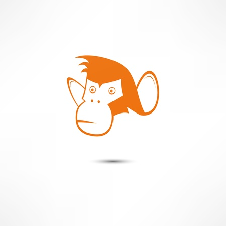 illustration and cool: Monkey Icon Illustration