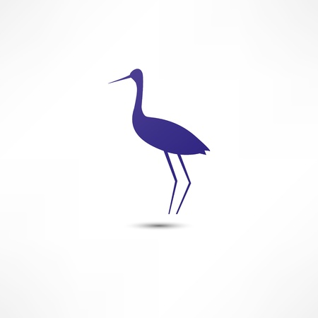 Stork Icon Stock Vector - 16795691