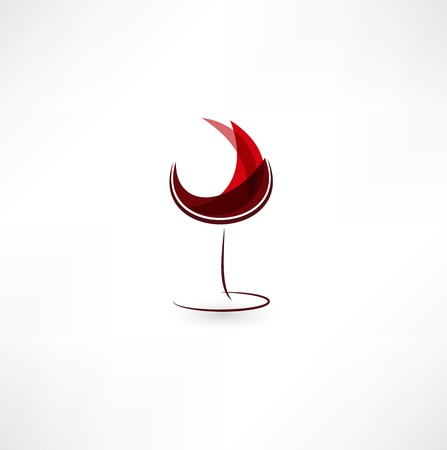 Glass Of Wine Icon 矢量图像