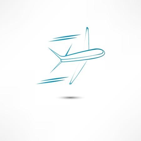 airways: Flying airplane  Stock Photo