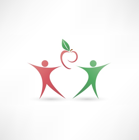 Healthy food icon Stock Photo - 16839136