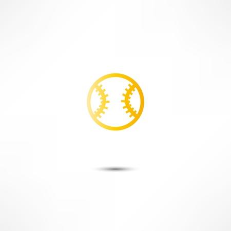野球のボールのアイコン 写真素材 - 16838835