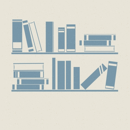 Bookshelf. Retro illustrations. illustration