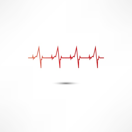 light traces: Cardiogram Icon