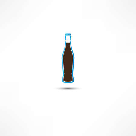 Bottle With Cola Icon Stock Photo - 16838746