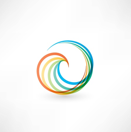 green swirl: Design elements with spiral motion. Stock Photo